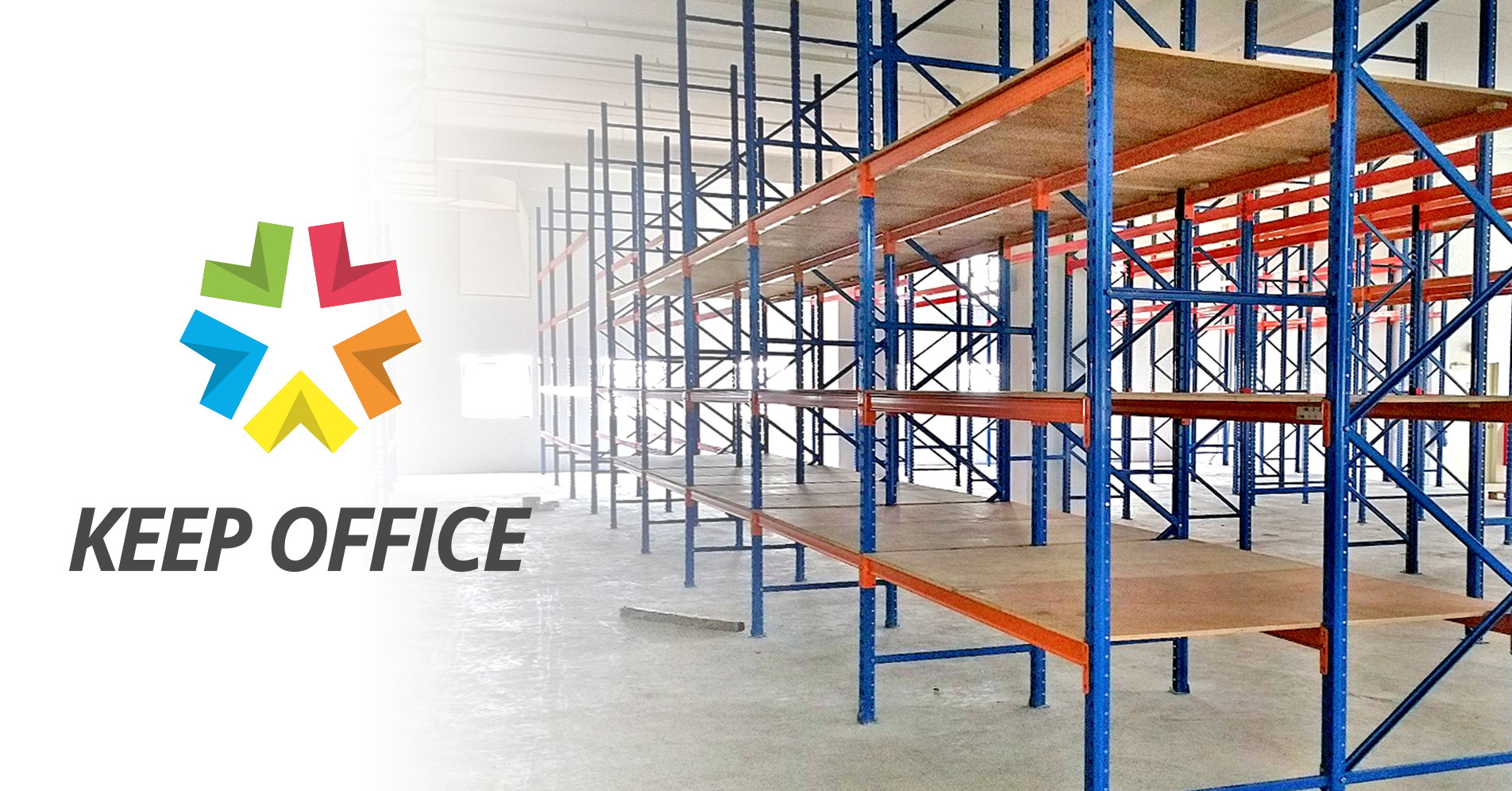 Keep Office Office Warehouse Shelving & Racking System