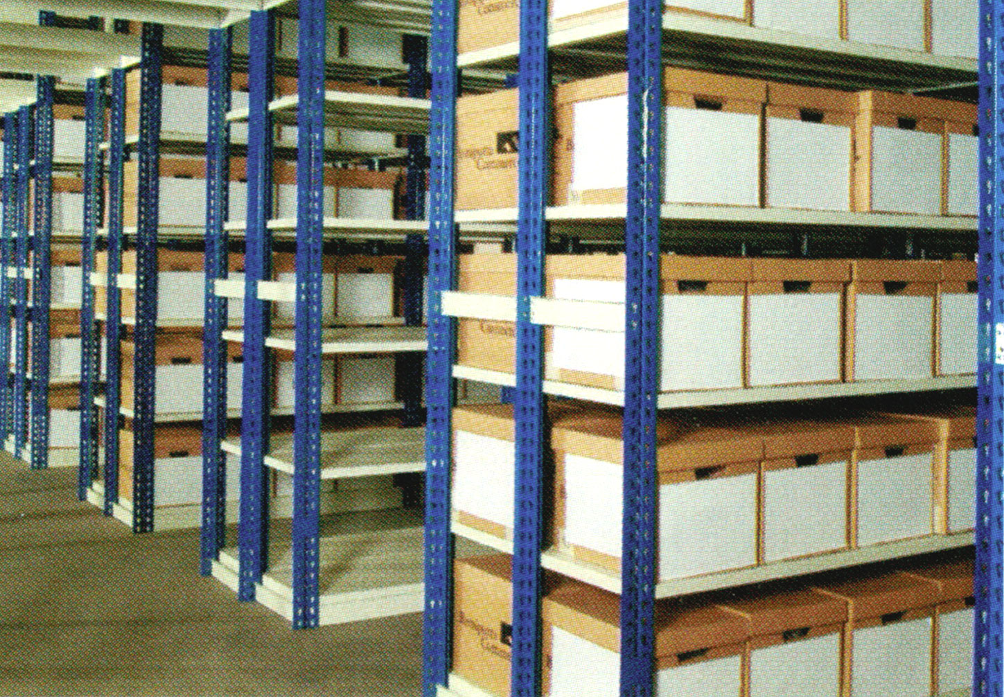 Boltless Shelving System for an Archieve Storage Facility