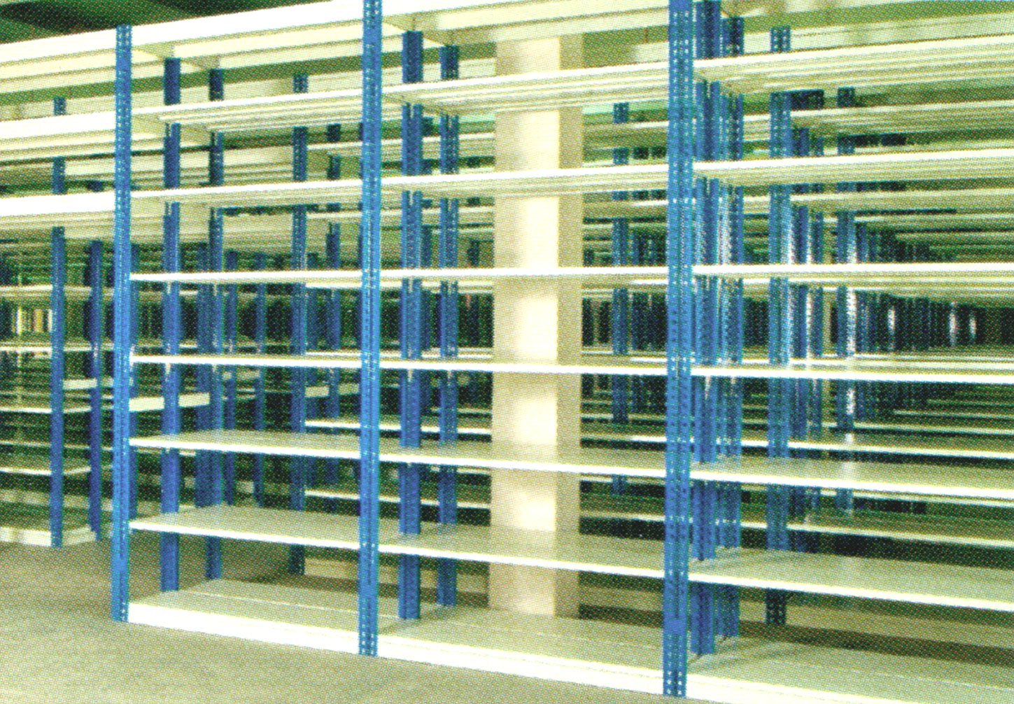 Boltless Shelving System with Steel Shelve