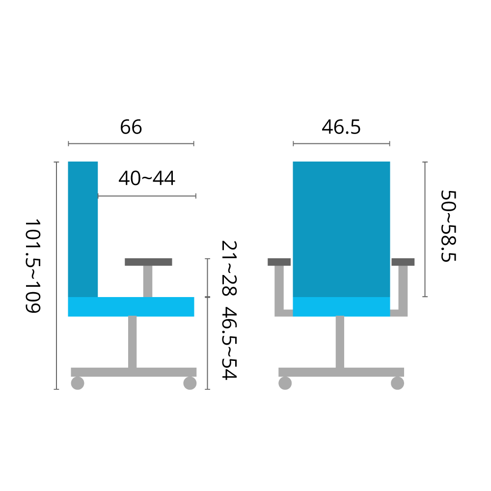 Genova Midback chair specifications